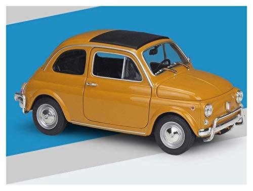 Diecast Model Car 1: 18 para Fiat para la aleación de 500L Modelo de automóvil Colección Regalo Decoración Decoración de juguete Modelo de coche Diecast Vehículo Niños Regalo (Color: Amarillo) wmpa