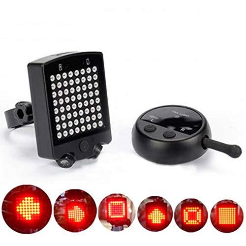 Wiivilik Fahrrad Drahtlose Fernbedienung Blinkerbremslicht Rücklicht Fahrrad Wiederaufladbare Licht Bremslicht Warnung