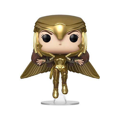 Funko - Pop! Wonder Woman 1984: Wonder Woman (Gold Flying Pose) Figura Coleccionable, Multicolor (46660)