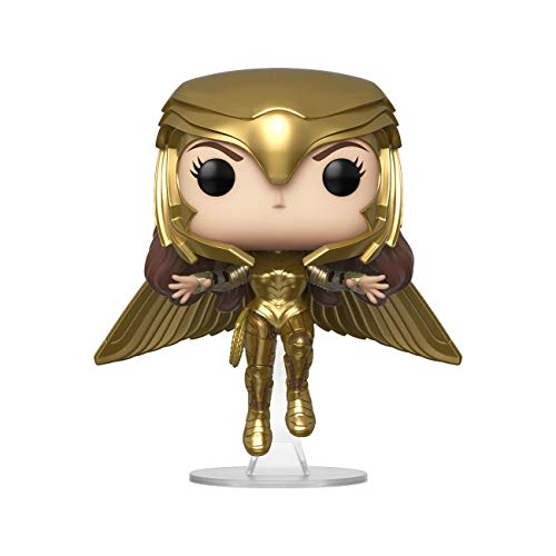 Funko - Pop! Wonder Woman 1984: Wonder Woman (Gold Flying Pose) Figura Coleccionable, Multicolor (46660)