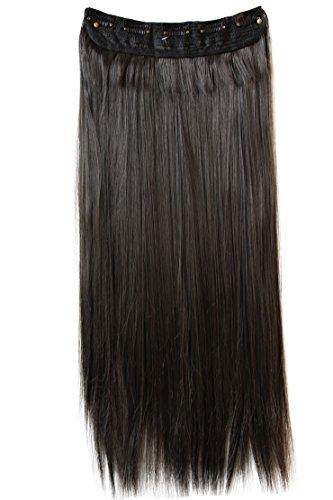 PRETTYSHOP 70cm Clip In Extensions Haarverlängerung Haarteil Glatt Brünett C53a