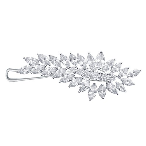 QUKE Damen Zirkonia Kristall Haar Clip Haarnadel Strass Braut Hochzeit Haarspangen Schmuck Kopfschmuck Haar Accessoires
