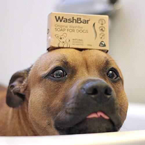 WashBar Natural Dog Shampoo Bar - Natural Bar Soap and Dog Shampoo for...