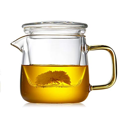 Teteras Pote del té Cristal de Las Hojas Intercambiables de Infuser del té Vidrio, Viajes al Aire Libre Juego de té, Bolsa de portátil, Simples de la casa Moderna de K