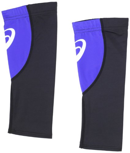 ASICS Blocks Calf Sleeve, Black/Royal, X-Small