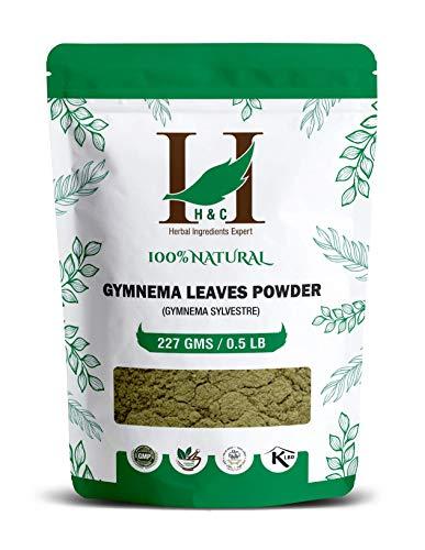 H&C Gymnema/Gurmar Feuilles Poudre (Gymnema sylvestre) 227 g / 0,2 kg | Pour des niveaux de sucre sain dans le sang | Metabolic Wellness