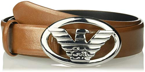Emporio Armani Eco Leather Tongue Belt Cintura, Cuoio, 95 cm Donna