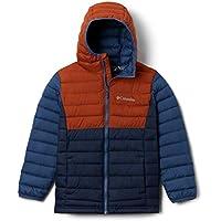 Columbia Youth Boys Powder Lite Hooded Jacket (Coll Navy/Dark Adobe/Night Tide)