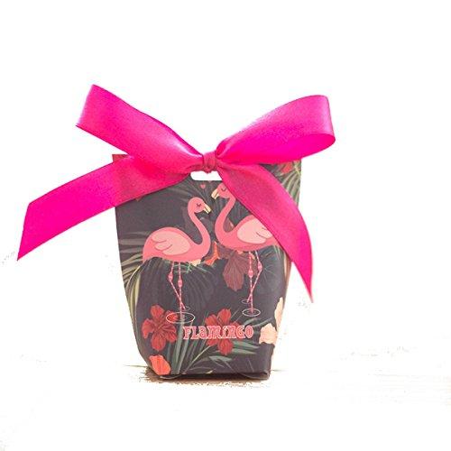 Au plaisir des yeux 5 boîtes à dragées Flamant Rose et Jungle