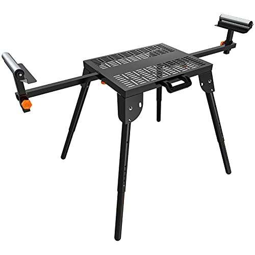 Saw Stand, Power Tools Stand with Workbench Station, Supports up to 500 lbs, 6-Level Height Adjustment, 67-4/5' Max Sliding Rail, Universal Saw Stand for All Saws even Cutting Machine-SS01