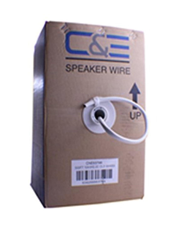 落ち込んでいるかまど夫C & E 500フィート無酸素スピーカーワイヤケーブル、14?AWG 2導線、ソリッド銅& cl3r定格