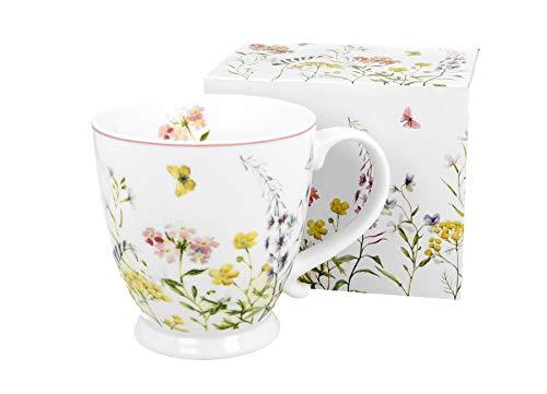 Duo Secret Garden - Taza de café y té de porcelana china, 480 ml, en caja de regalo
