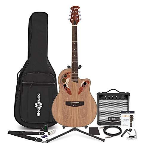 Guitarra Electroacustica Roundback Deluxe + Set Completo
