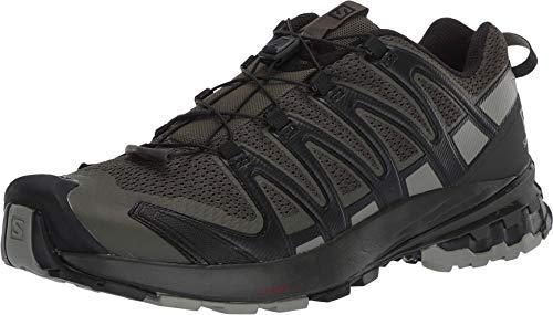 Salomon XA Pro 3D V8 Men's Trail Running / Hiking Shoe, Grape Leaf/Peat/Shadow, 10.5 EE - Wide