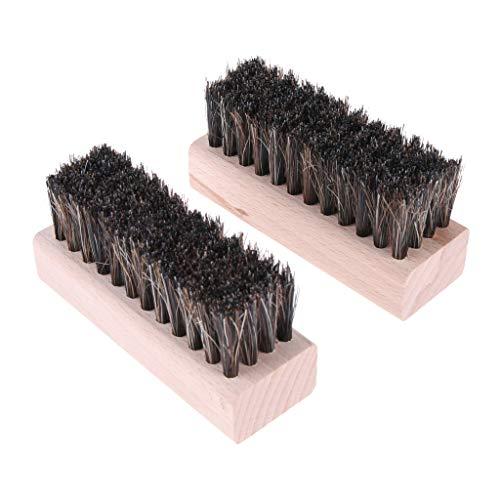 Baoblaze 2pcs Brosse Nettoyage CRIN pour Bottes Chaussures Meubles Sièges de Voiture Intérieurs Suédé Canapés Chaussures