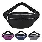 YXXJJ Bolso Deportivo Bolsas de Cintura para Mujer Moda Impermeable Moda Bolsa Bolsa Viaje Crossbody Pechos Bolsas Unisex Hip Bag Amplia Gama de Aplicaciones duraderas (Color : Purple)