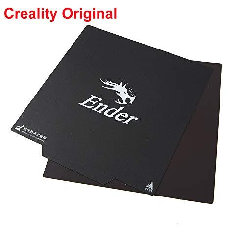Creality - Superficie magnetica di costruzione per stampante 3D, rimovibile, ultra flessibile e riscaldata, per Ender 3/Ender 3 Pro, 235 x 235 mm