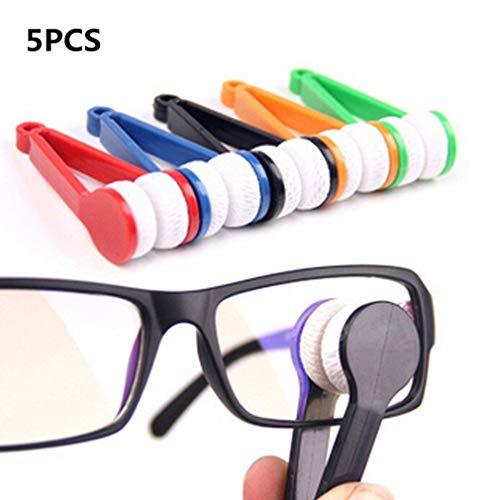 blypower 5 Stück Mini Sonnenbrillen Brillen Mikrofaser Brillenreiniger Soft Brush Cleaning Tool von TheBigThumb, Zufällige Farbe