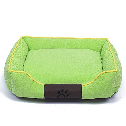 XYBB Huisdierbed, zacht materiaal, huisdier, sofa, candy gekleurde hond herfst en winter, verwarming klauw nest zwinger voor, 55x45x16cm, groen