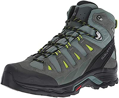 Salomon Men's Quest Prime GTX Backpacking Boots, Balsam Green/Urban Chic/Lime Green, 7