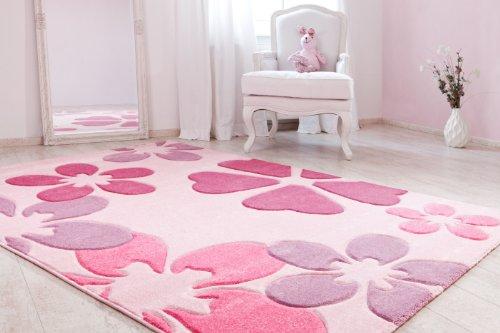 Luxor Living 798972 Brest 6127 - Alfombra (120 x 170cm), color rosa claro