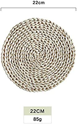 60023fd25f4 MAGA 1 Rattan Placemats Straw Cup Coasters Dining Table Mat Heat Insulation  Pot Holder Wicker Drink