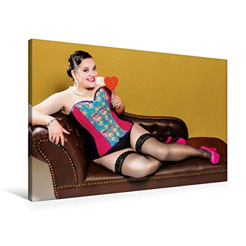 Premium Textil-Leinwand 90 x 60 cm Quer-Format XXL Dessous Girls   Wandbild, HD-Bild auf Keilrahmen, Fertigbild auf hochwertigem Vlies, Leinwanddruck von Markus W. Lambrecht
