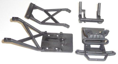 Traxxas Stampede 2wd XL-5 VXL CONVERSION Kit Upgrade BLACK BUMPER & SKID PLATES