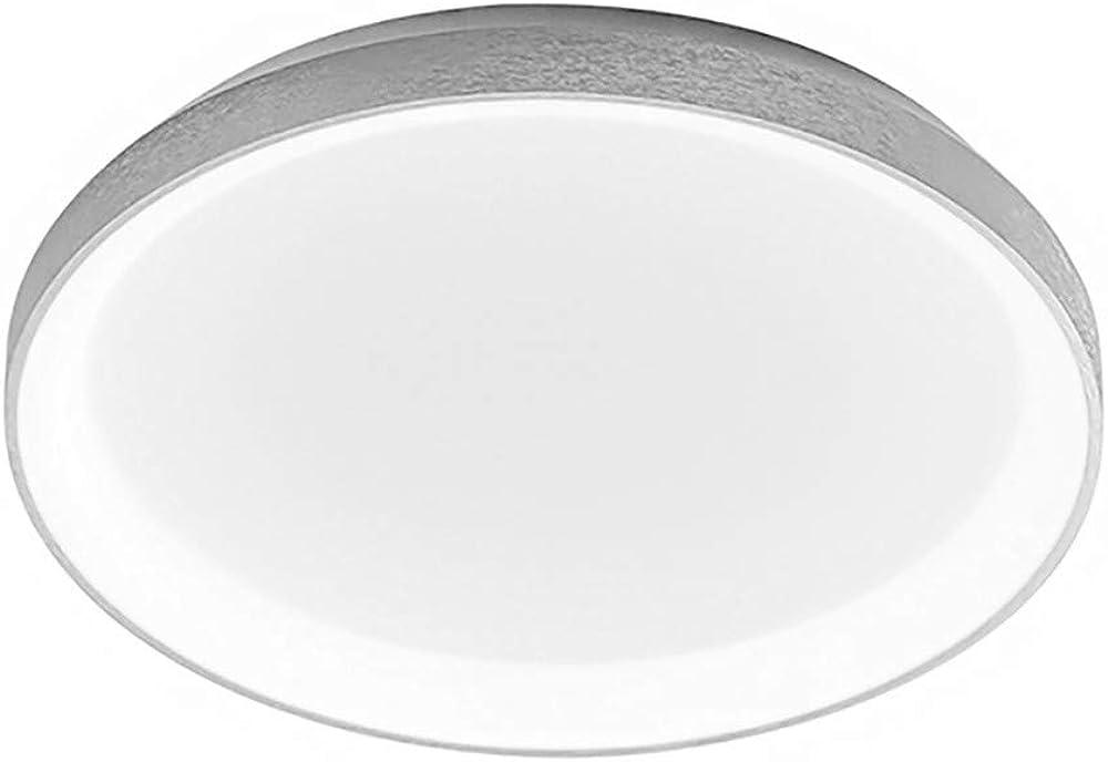 Plafoniera moderna led gea luce krizia ps dimmerabile in alluminio spazzolato lampada da soffitto GE-KRIZIA-PG-BI