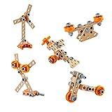 Hape Wooden Building Set Junior Inventor Starter Kit – Juego de construcción de Madera (E3031)