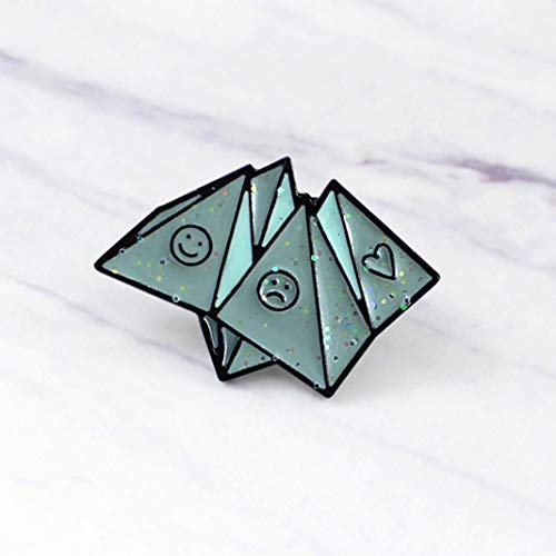 Broche esmaltado para chaquetas, mochilas, ropa, opciones de amor con origami, esmaltado, sombrero, vaqueros, insignia de la infancia, color azul