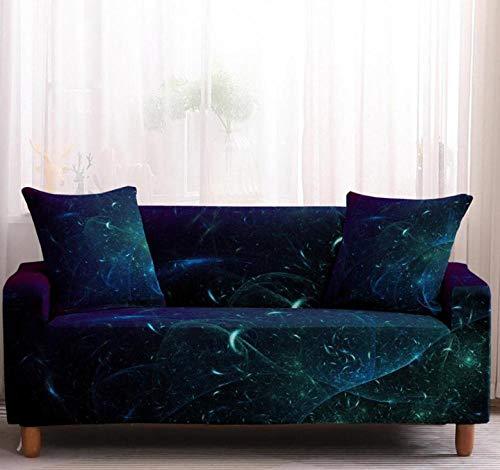 Funda de sofá de 1 Plazas Funda Elástica para Sofá Poliéster Suave Sofá Funda sofá Antideslizante Protector Cubierta de Muebles Elástica Cielo Estrellado Azul Funda de sofá