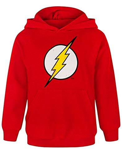 Flash Distressed Logo Boy's Hoodie , Red, 7-8 Years