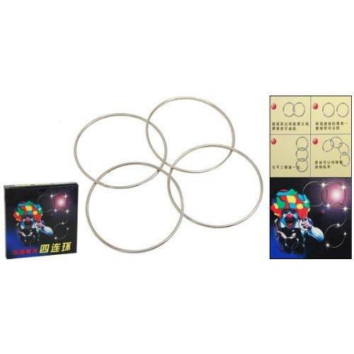Dcolor Mini anneaux Chinois Quatre anneaux magiques Nouvel anneau connecte Kit de magie