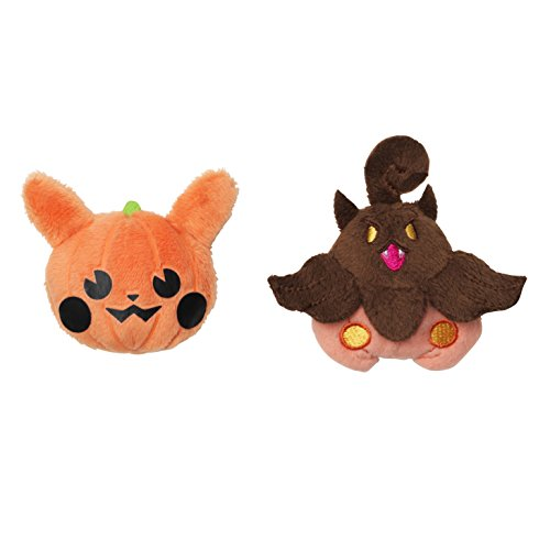 Pokèmon Center Original Stuffed Badge Two Set Halloween Parade 2015 ~ Pumpkin Pikachu ~