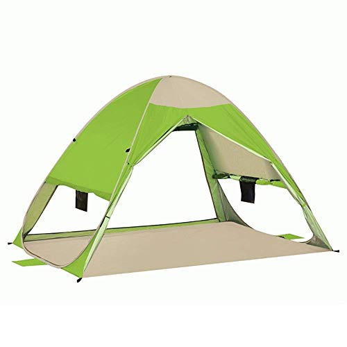 Nuokix Camping Tent, Family Tent Outdoor Portable Sun Protection Breathable UV Protection 2-3 People Camping Tent Fishing Hiking Picnic Outdoor Tent blue (Color : Green)
