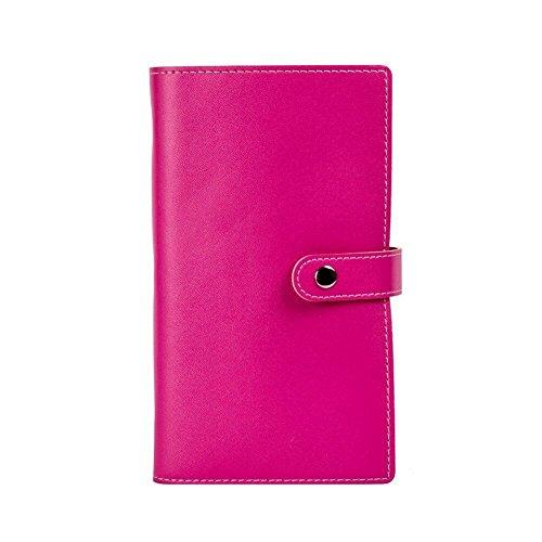 Tenn Well–Tarjeta de visita libros, lujo suave piel sintética Tarjetas de visita, para 240tarjetas de visita, tarjeta de Crédito, tarjeta de identificación, color rosa rojo