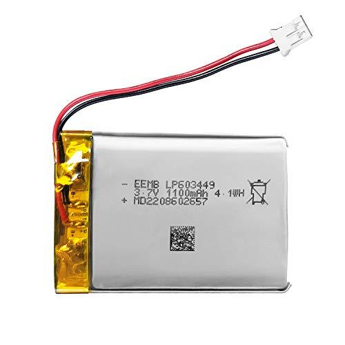 EEMB 3.7V 1100mAh 603449 Lipo-Batterie Wiederaufladbare Lithium-Polymerionen-Batterie-PCS mit JST-Anschluss