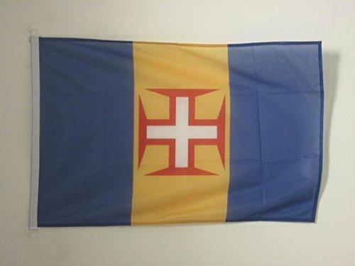 AZ FLAG Flagge Madeira 90x60cm - Madeira Fahne 60 x 90 cm Aussenverwendung - flaggen Top Qualität