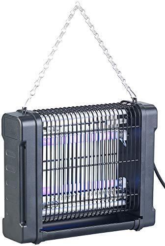 Lunartec Insektenfänger: UV-Insektenvernichter mit Rundum-Gitter, 2 UV-Röhren, 1.600 V, 12 Watt (UV Insektenfalle)