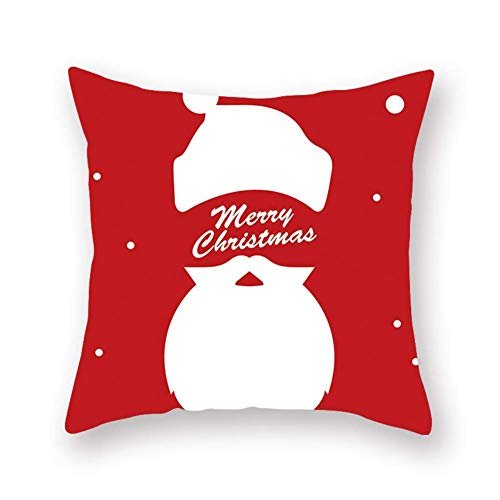 GOHHK Christmas Cushion Covers Comfy Velvet Throw Pillow Case with Xmas Tree Santa Reindeer Decorative Pillowcase For Home Living Room Bedroom Office Christmas Decoration