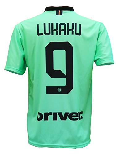 LC SPORT SRL Second Camiseta Inter ROMELU LUKAKU 9 Réplica Away Autorizada 2019-2020 Niño (Talla-Años 2 4 6 8 10 12) Adulto (S M L XL) Véase Las Notas (4/5 Años)