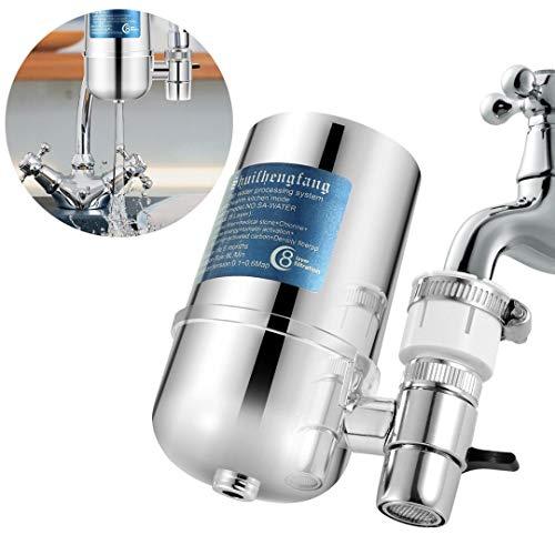 Wasserfilter Wasserhahn, Slickbox Prämie Wasser Filtersystem Tischwasserfilter mit Wasser Filterkartuschen, Küchenzubehör für Gesunder Lebensstil