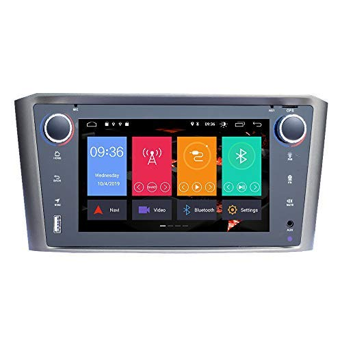 para Toyota Avensis T25 2002-2008 Android 10.0 Single DIN 7