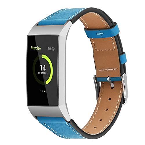 Gransho Compatible con Fitbit Charge 4 / Charge 4 SE/Charge 3 SE/Charge 3 Correa de Reloj De Cuero para Mujer (Pattern 5)
