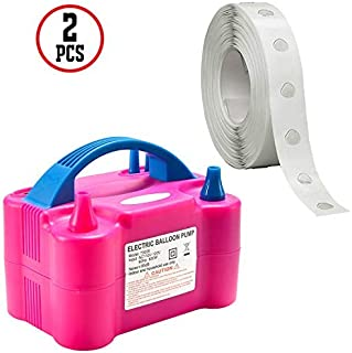 Party Propz 3-in-1 Balloon Pump Combo - 1 pc Premium Hand Balloon Inflating Air Pump , 2 pc Curling Ribbons Balloon Decora...