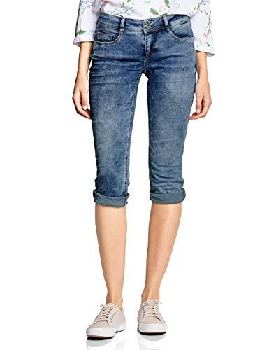 Street One Damen 372232 Crissi Slim Jeans, Light Blue Random Bleached, W32 (Herstellergröße:32)