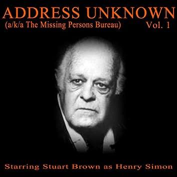 Address Unknown, Vol. 1