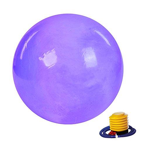 Ponacat Yoga-Ball Anti-Burst- Und Rutschfester Gymnastikball Fitness-Workout-Stuhl Schwangerschaftsball Yoga-Pilates Balancieren Gymnastikball mit Luftpumpe