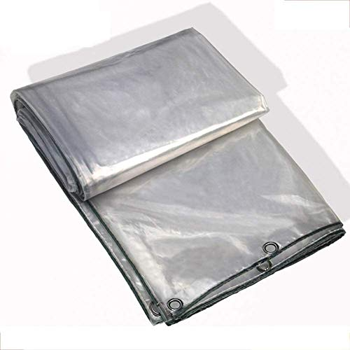 Glass Clear Tarpaulin Tarp Transparent Tarps, Waterproof Base Sheet Cover/Pool Cover, High Performance Plastic Insulation Cloth (Color : Clear, Size : 3x10m)